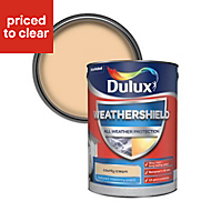 Dulux Weathershield County cream Textured Matt Masonry paint, 5L