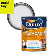 Dulux Easycare White mist Matt Emulsion paint 5L
