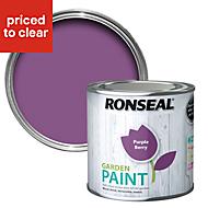 Ronseal Garden Purple berry Matt Garden paint 0.25L
