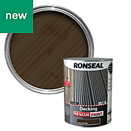 Ronseal Decking rescue English oak Matt Opaque Decking paint 5L
