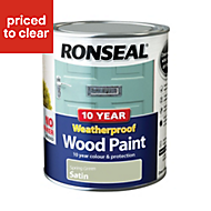 Ronseal Spring green Wood paint 0.75L