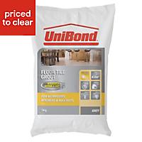 UniBond Light grey Powder grout (W)5kg