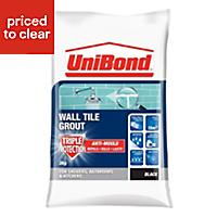 UniBond Black Powder grout (W)3kg