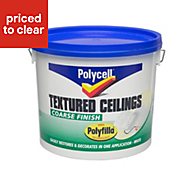 Polycell Coarse White Matt Special effect paint 5L