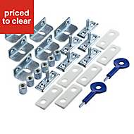 Yale Chrome Window lock, Pack of 6