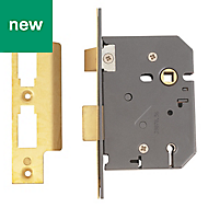 Yale 76mm Polished brass 5 Lever Mortice sashlock