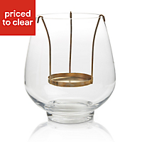 Copper effect Glass & metal Floating candle holder, Medium