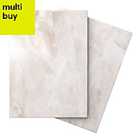 Illusion Cappuccino Gloss Marble effect Ceramic Floor tile, Pack of 10, (L)360mm (W)275mm