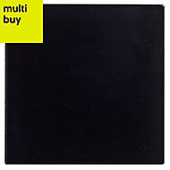 Utopia Black Gloss Ceramic Wall tile, Pack of 25, (L)100mm (W)100mm