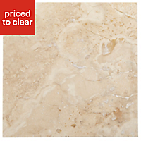 Single piece Natural Gloss Stone effect Wall tile, (L)305mm (W)305mm