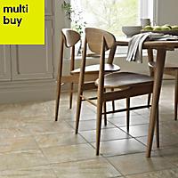 Illusion Grey Matt Stone effect Ceramic Floor tile, Pack of 10, (L)360mm (W)275mm