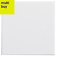 Utopia White Gloss Stone effect Ceramic Wall tile, (L)100mm (W)100mm, Sample