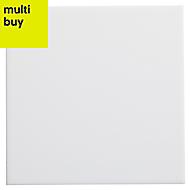 Utopia White Gloss Stone effect Ceramic Wall tile, (L)150mm (W)150mm, Sample
