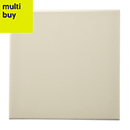 Utopia Barley Gloss Ceramic Wall tile, (L)150mm (W)150mm, Sample