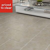 Calcuta Beige Marble effect Ceramic Wall & floor tile, (L)100mm (W)100mm, Sample