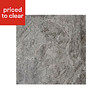 Illusion Dark grey Marble effect Ceramic Wall & floor tile, (L)100mm (W)100mm, Sample