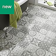 Lofthouse Grey Matt Stone effect Ceramic Tile, (L)300mm (W)300mm