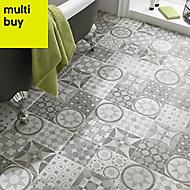 Lofthouse Grey Matt Stone effect Ceramic Floor tile, (L)300mm (W)300mm