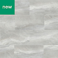 Perla Grey Stone effect Ceramic Tile, Pack of 5, (L)600mm (W)300mm