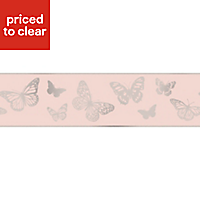 Colours Butterfly Glitter effect Border