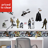 Star Wars Star Wars Black Self-adhesive Wall sticker (L)700mm (W)500mm