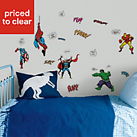 Marvel Comics Multicolour Wall sticker (L)340mm (W)510mm