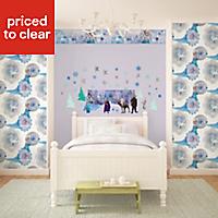 Disney Disney Frozen Blue Self-adhesive Wall sticker (L)700mm (W)500mm