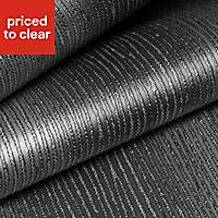 Graham & Brown Valentino Black Striped Glitter effect Textured Wallpaper