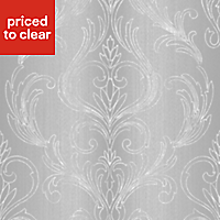 Graham & Brown Valentino Damask Glitter effect Textured Wallpaper