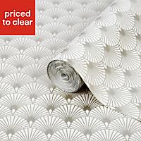 Superfresco Easy Gatsby Gold Geometric Metallic Wallpaper