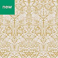 Superfresco Easy Yellow Damask Wallpaper