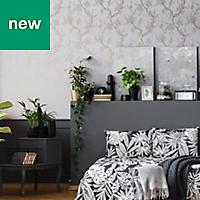 Superfresco Easy Grey & rose gold effect Floral Wallpaper