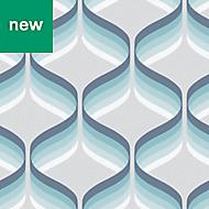 Superfresco Easy Blue Geometric Wallpaper