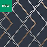 Superfresco Easy Navy Geometric Wallpaper