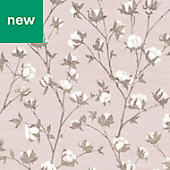 Superfresco Easy Blush pink Floral Wallpaper