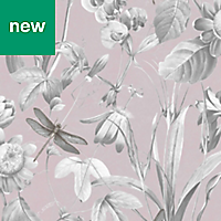 Superfresco Easy Pink Floral Wallpaper