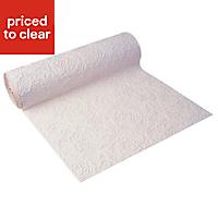 Graham & Brown Superfresco White Chunky swirl Textured Wallpaper
