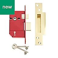 Union 64mm Polished brass Mortice deadlock