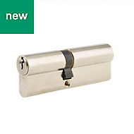 Union 100mm Satin Nickel Euro Cylinder Lock