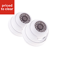 Yale HD Wired Indoor dome camera twin pack HDC-302W-2