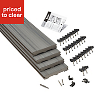 Trex? Chateau grey Composite Deck board (L)2.4m (W)140mm (T)24mm, Pack of 4