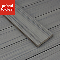 Trex® Chateau grey Composite Deck board (L)2.4m (W)140mm (T)24mm, Pack of 4