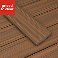 Trex? Torino brown Composite Deck board (L)2.4m (W)140mm (T)24mm, Pack of 4