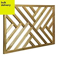 Tanalised Timber Modern Trellis panel (H)0.76m(W)1.13 m