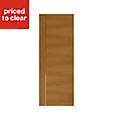 Flush Oak & Aluminium Internal door, (H)1981mm (W)762mm