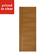 Flush Oak & Aluminium Internal door, (H)1981mm (W)762mm