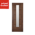 Flush 5 panel Walnut veneer Internal Door, (H)1981mm (W)686mm