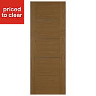 Flush 5 panel Oak veneer Internal Fire Door, (H)1981mm (W)838mm