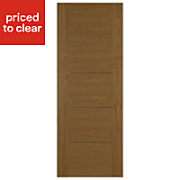5 panel Flush Oak veneer LH & RH Internal Fire Door, (H)1981mm (W)838mm