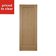 1 panel Flush Oak veneer LH & RH Internal Door, (H)1981mm (W)686mm
